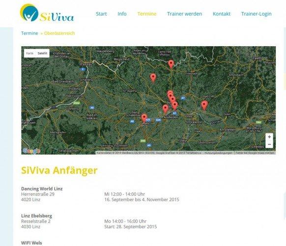 SiViva Webseite