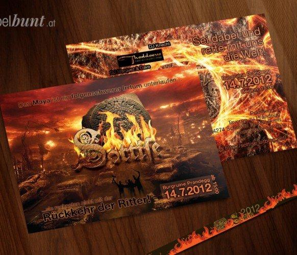 Sottise Flyer und Einlassband 2012