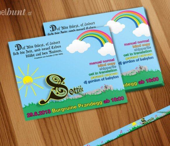 Sottise Flyer und Einlassband 2013